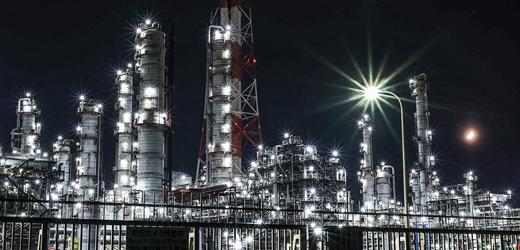 鹿島工場の夜景