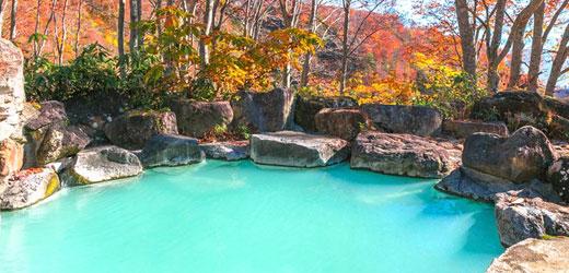 燕温泉 野天風呂
